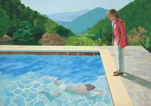 Девід Хокні «Портрет художника (Бассейн з двома фігурами)», відтепер найдорожче продана за життя художника картина: $90,3 vky