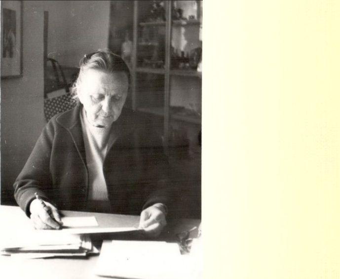 Ганна Григорівна Пудик, працівниця музею «Гуцульщина» в Коломиї (тодішня назва музею) в 1970-1980-і роки.